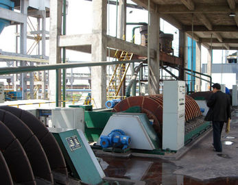 Sludge Dewatering Rotary Disc Filter , Vacuum Filtration System PLC Control